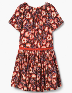 red floral kids dress