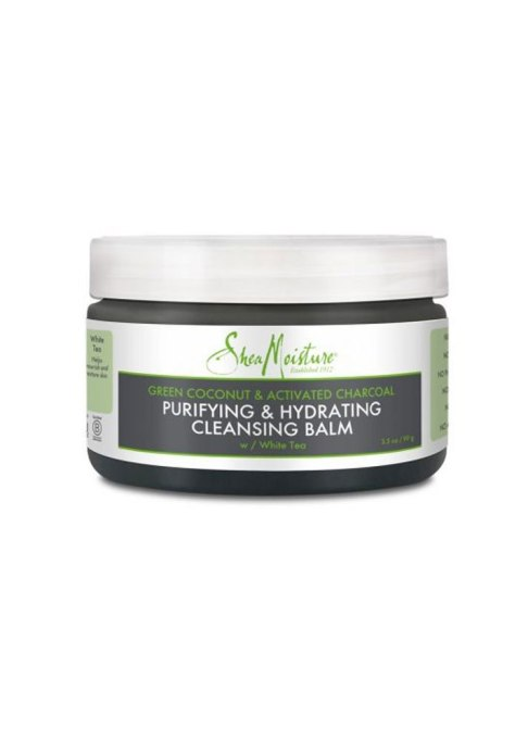 SheaMoisture Green Coconut & Activated Charcoal Purifying & Hydrating Cleansing Balm
