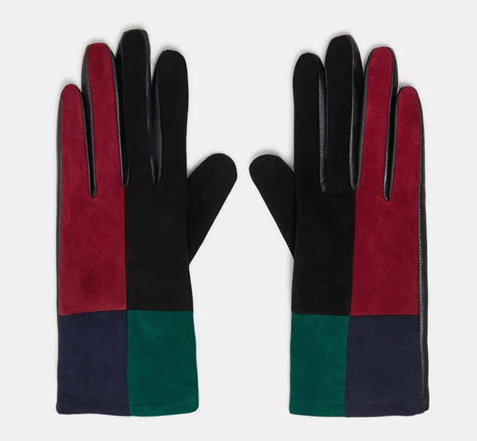 Special Edition Leather Patchwork Gloves