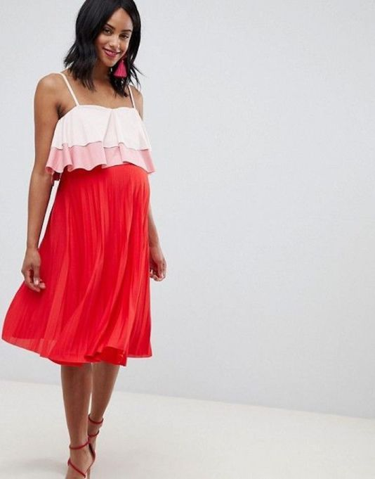 Tiered Double-Layered Pleated Skirt Dress