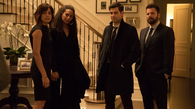 Stephanie Szostak, Christina Moses, David Giuntoli and James Roday in 'A Million Little Things.'