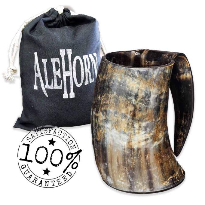 AleHorn drinking horn mug.