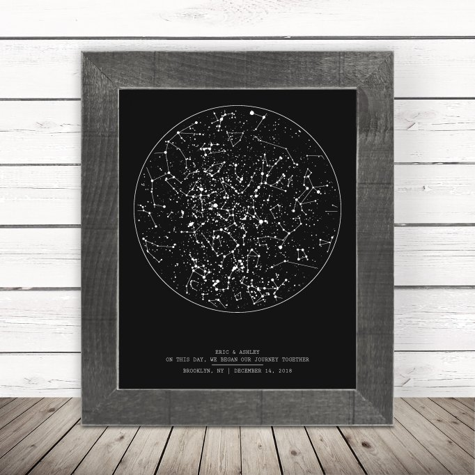 Our Love Was Born astronomy print.