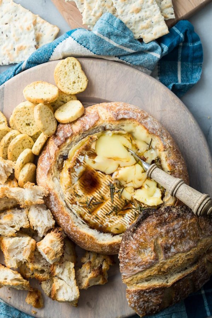 12 Easy Recipes You Can Serve In a Bread Bowl: Baked Brie Sourdough Bread Bowl