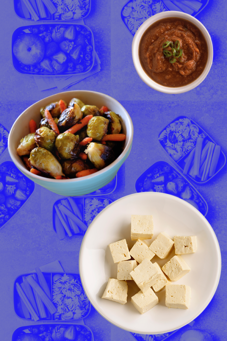 Baked Tofu And Vegetables