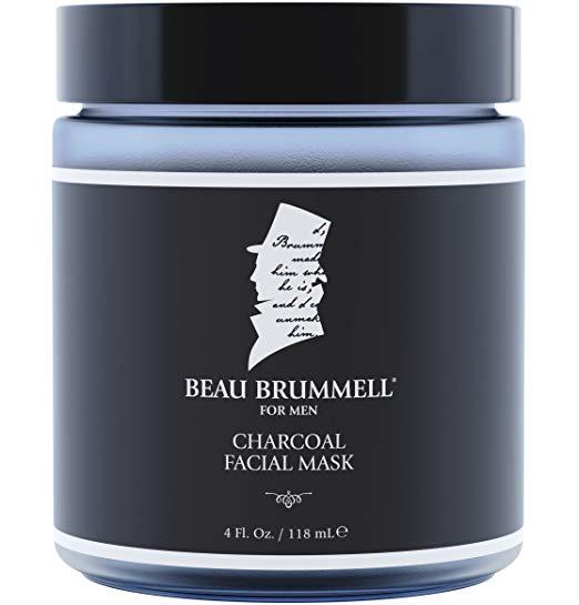 Beau Brummell charcoal face mask.