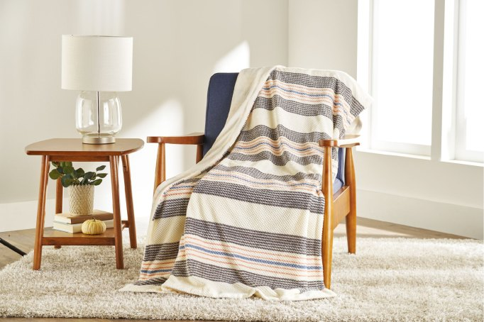 Better Homes & Gardens Oversize Reversible Velvet Plush Throw Blanket