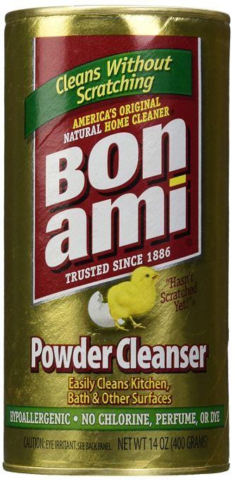 Bon Ami powder cleanser.