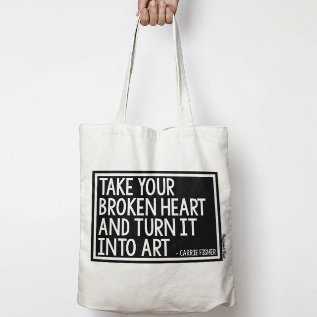 Carrie Fisher quote canvas tote bag