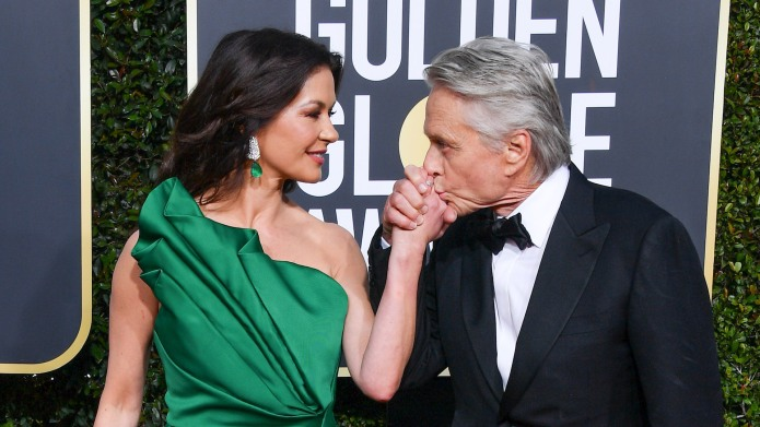 Catherine Zeta-Jones and Michael Douglas arrive