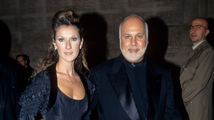 Céline Dion and René Angélil attend