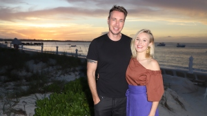 Dax Shepard and Kristen Bell take a vacation with their family to Beaches Turks & Caicos Resort Villages & Spa