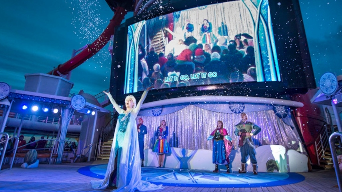 The 'Frozen' Musical aboard a Disney cruise.