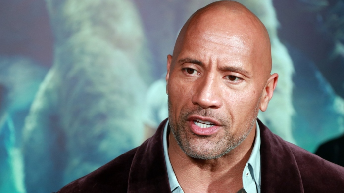 Actor Dwayne Johnson attends 'Rampage' premiere