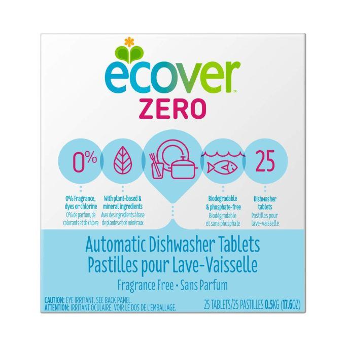 Ecover Zero automatic dishwasher tablets.