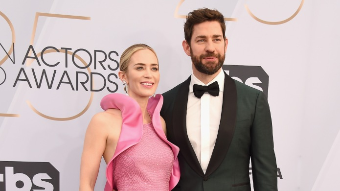 Emily Blunt and John Krasinski arrive