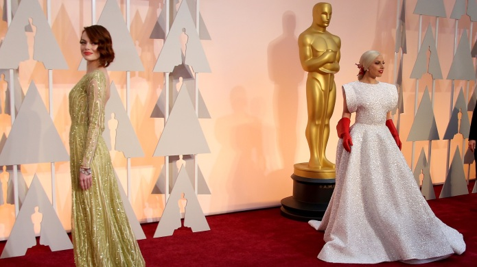 lady gaga and Emma stone at