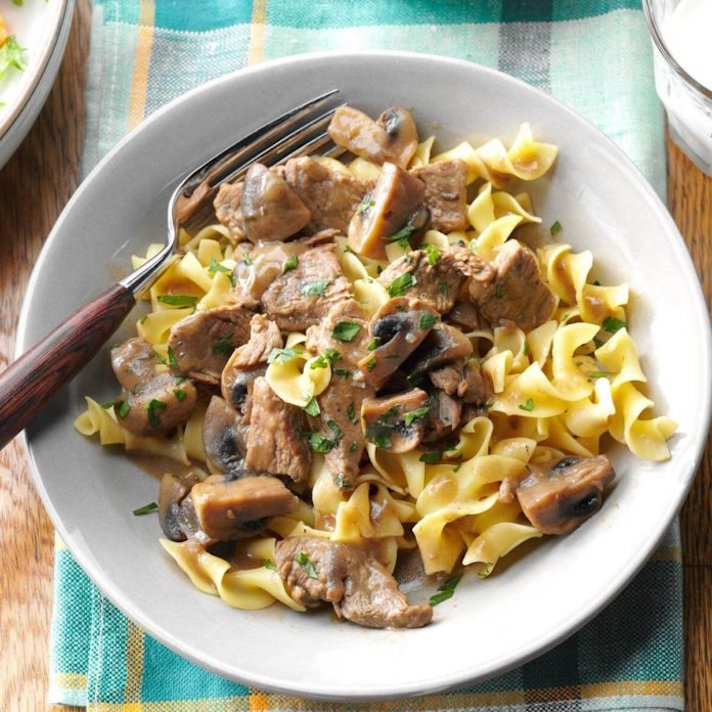 11 Date Night Dinner Recipes Anyone Can Make: Beef Burgundy Over Noodles