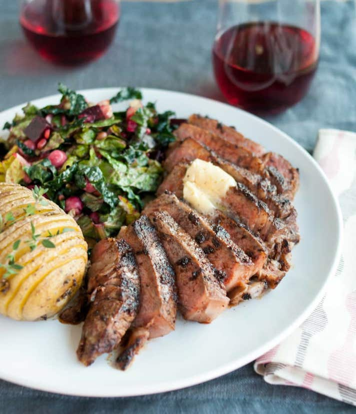 11 Date Night Dinner Recipes Anyone Can Make: Chili-Rubbed Ribeye Steak with Maple-Bourbon Butter