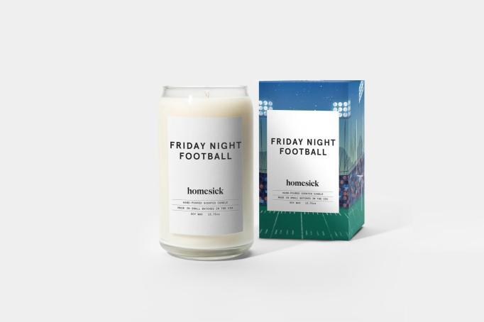 Homesick football candle