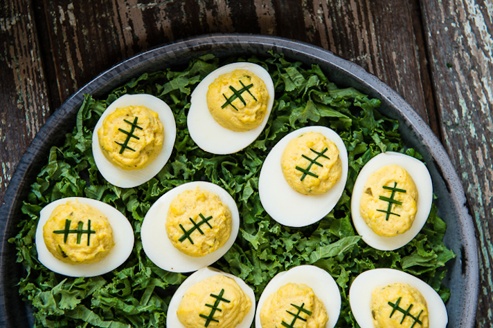14 Super Bowl Snack Ideas That Are Better Than Actual Football: Football Deviled Eggs