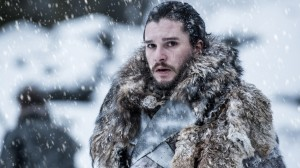 Photo of Jon Snow in the snow in Game of Thrones