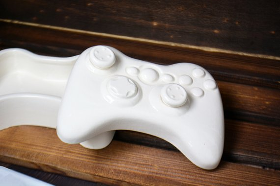 Video game controller trinket box.