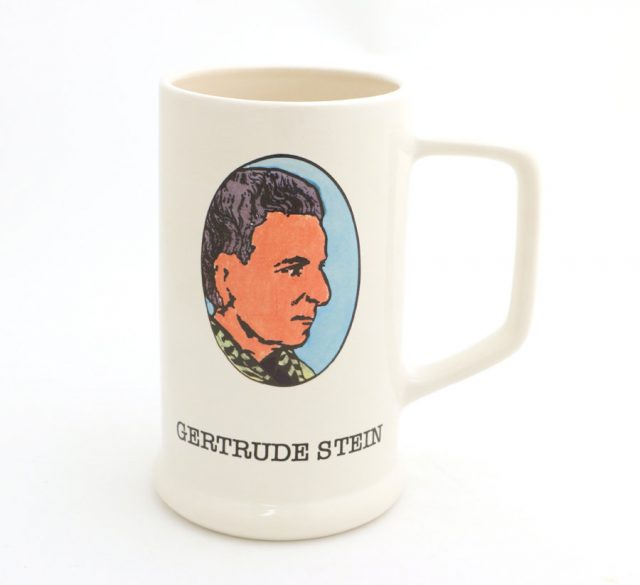 Gertrude Stein beer stein by LennyMud on Etsy