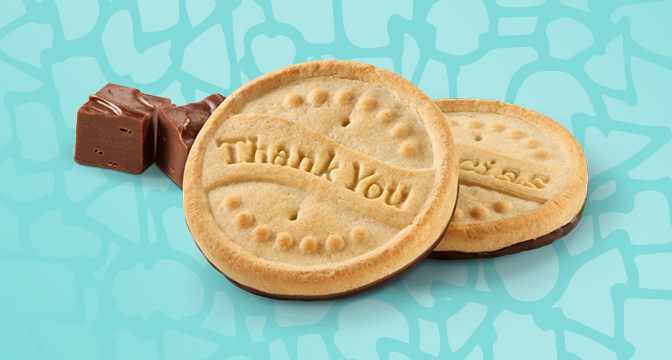 Girl Scout Cookies Thank You cookies.