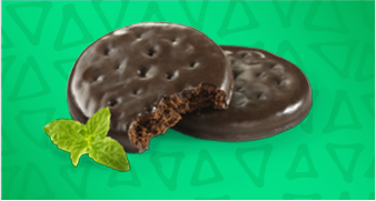 Girl Scout Cookies Thin Mint cookies.