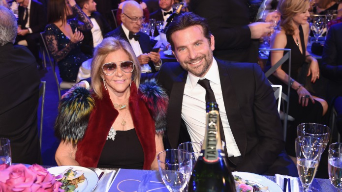 Gloria Campano and Bradley Cooper attend