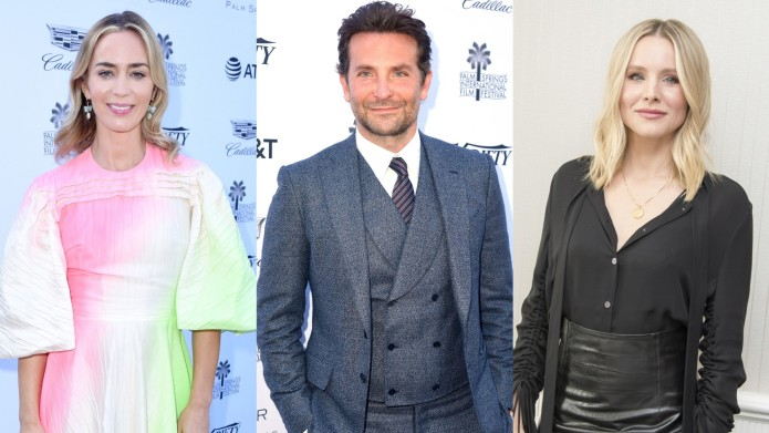Collage of Emily Blunt, Bradley Cooper
