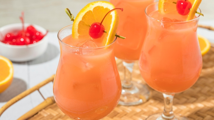 Homemade Alcoholic Hurricane Cocktail Drink with