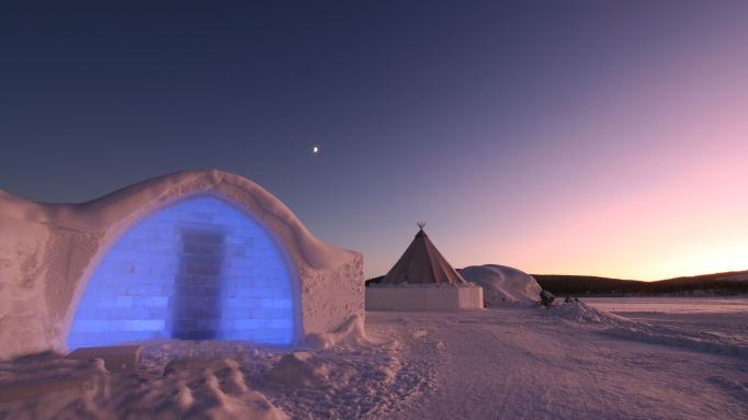 Ice Hotel in Sweden.