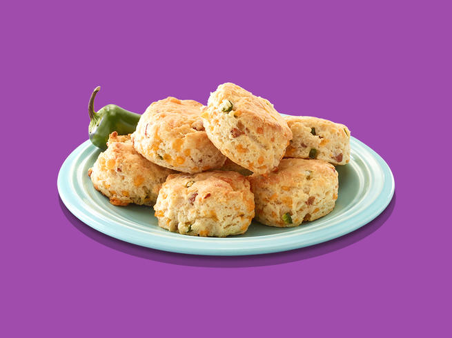 Jalapeno cheddar biscuits.