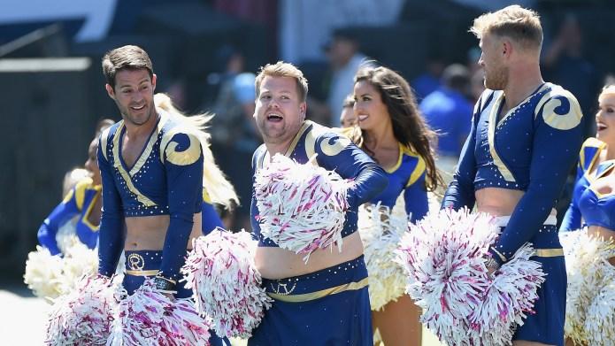 James corden rams cheerleading