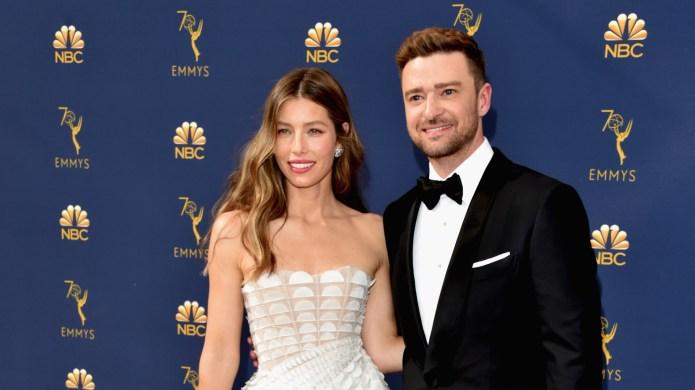Jessica Biel and Justin Timberlake arrive