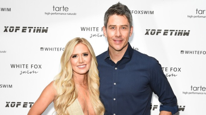 photo of Arie Luyendyk Jr. & Lauren Burnham at White Fox Boutique swimwear launch