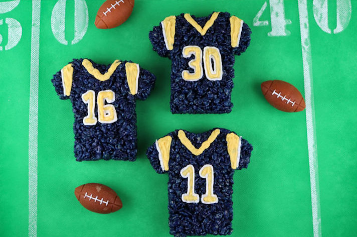 14 Super Bowl Snack Ideas That Are Better Than Actual Football: LA Rams Rice Krispie Treats