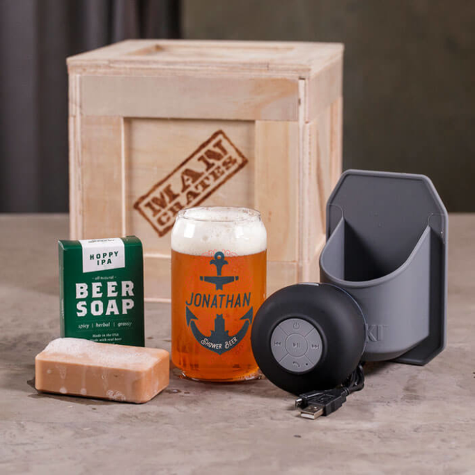 Personalized Shower Beer Crate