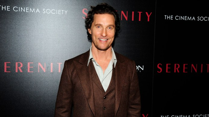 Matthew McConaughey attends Aviron Pictures With