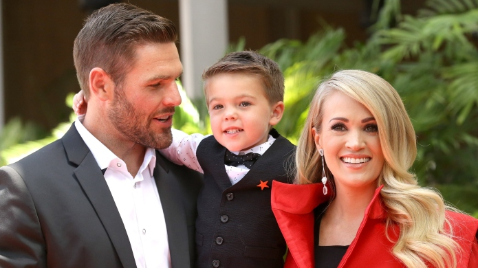 Carrie Underwood with her husband, Mike