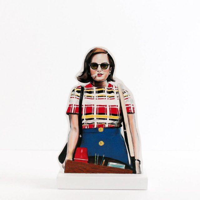 Peggy Olson 'Mad Men' wooden standee from luckyjackson on Etsy