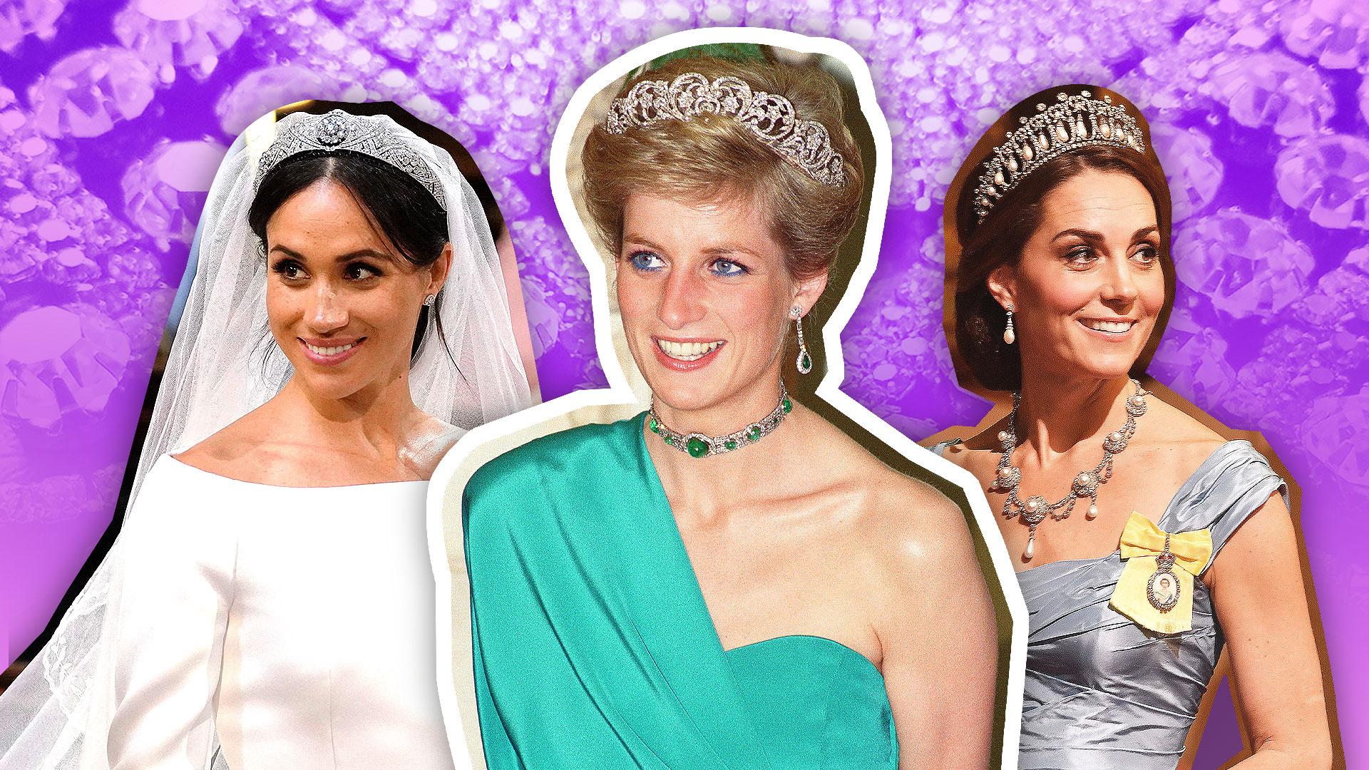 Meghan Markle Kate Middleton Wearing Princess Dianas