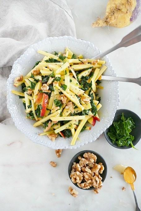 Rutabaga Apple Salad