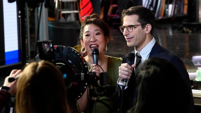 Sandra Oh and Andy Samberg, hosts
