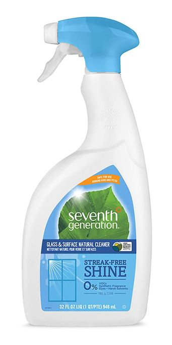 Seventh Generation glass and surface cleaner.
