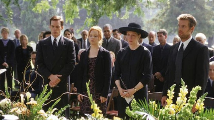 A scene from the premiere of the HBO series 'Six Feet Under.'