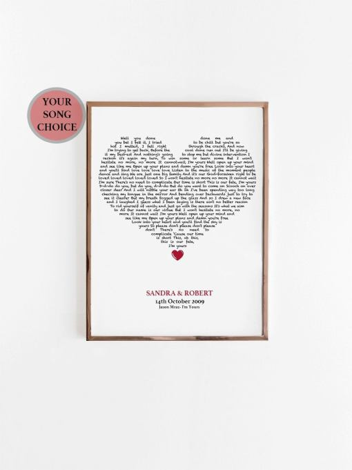 Personalized Song Print
