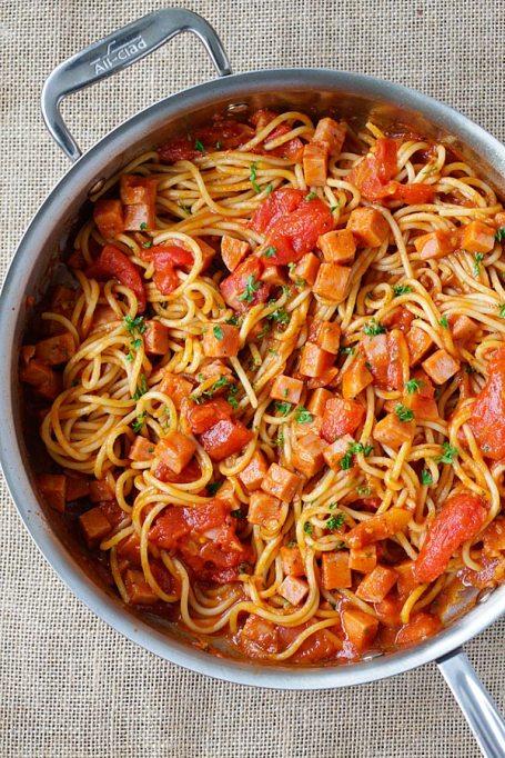 Spam spaghetti.